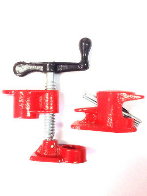 2 Sets Gluing Pipe Clamp 3/4 Woodworking Vice Hand Tools