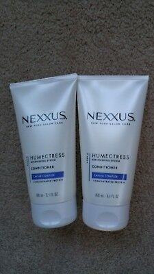 (2) Nexxus Humectress Replenishing System Caviar Complex Conditioners 5.1 oz Ea.