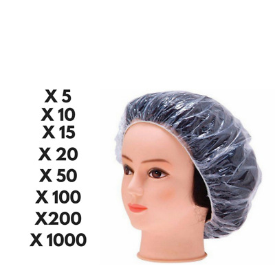 Disposable Shower Caps Bathing Elastic Clear Hair Care Protector 5-1000PCS