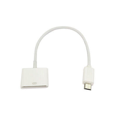 For iPhone 4 4S to Andriod Converter Adapter Cable 30 pin Female to Micro USB