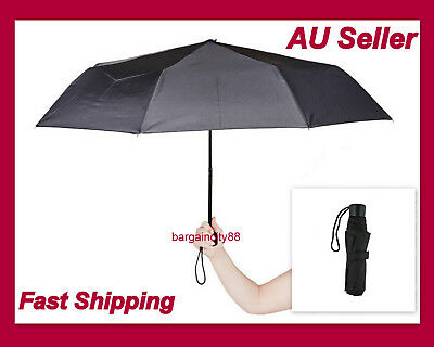 New Korjo Small300g Lightweight Folding Travel Umbrella Compact Black Mens Women