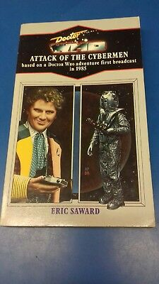 DOCTOR WHO BOOK - ATTACK OF CYBERMEN  - VIRGIN BLUE SPINE RELEASE No 138 DR WHO