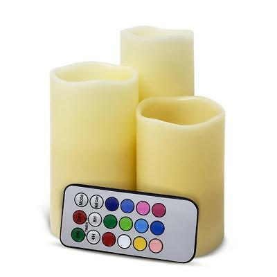 Flameless LED Candles, 4/8 Hours Timer Candles 12 Colors Pack of 4