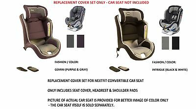 Chicco Nextfit Convertible CarSeat REPLACEMENT Seat Cover Headrest Shoulder Pads