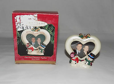 Hallmark Keepsake Ornament Our First Christmas Together Snowman Photo Holder