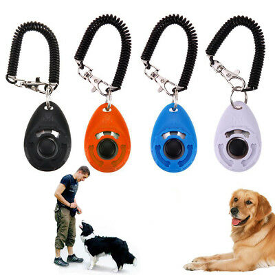 1PC Pet Dog Cat Clicker, Dog Training Clicker, Pet Obedience Aid Wrist Strap UK