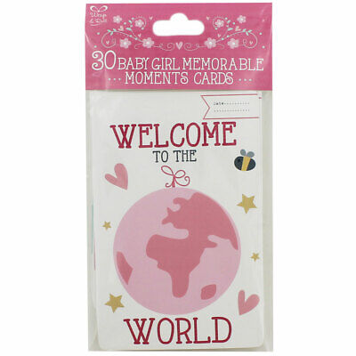 30 Baby Girl Memorable Moments Cards, Gifts by Occasion, Brand New