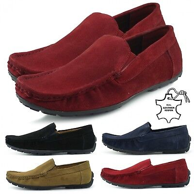 Men's driving moccasins,  100% leather loafers slippers shoes for Men's
