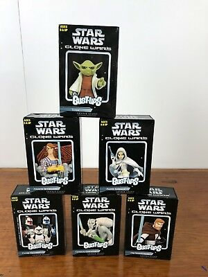 Star Wars Clone Wars Gentle Giant Bust Ups Lot Of 6 Grievous Amidala Yoda +more