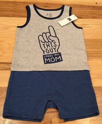 3d0c33279f98 NWT BABY GAP Boys Blue Bring Your Own Bottle One Piece Size 3-6 ...