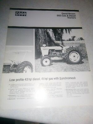 david brown case 885 gas & diesel tractors  sales brochure