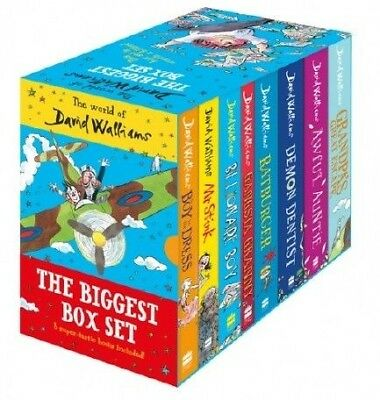 NEW The World of David Walliams The Biggest Box Set 8 Books Collection Gift Box