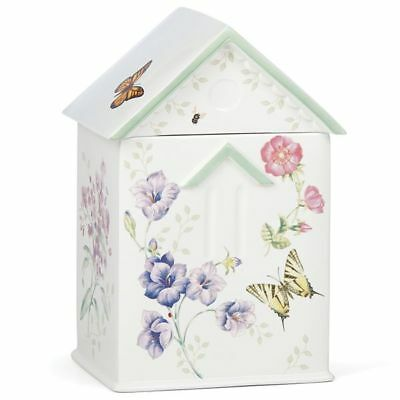 Nib! Lenox Butterfly Meadow Lavender House Limited (1,200) Edition Cookie Jar!