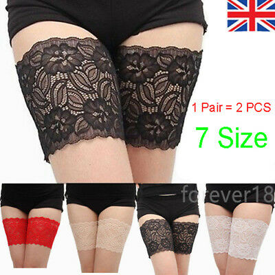 Non Slip Lace Elastic Sock Anti-Chafing Thigh Bands Prevent Thigh Chafing Socks