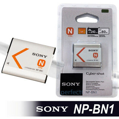 Original Sony NP-BN1 NPBN1 Battery for Cyber Shot DSC TX5 TX7 TX9 W690 HDR-AS30V
