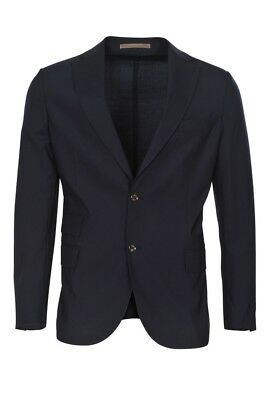Eleventy Blazer Men's 54  Dark-blue Slim Fit Plain Wool