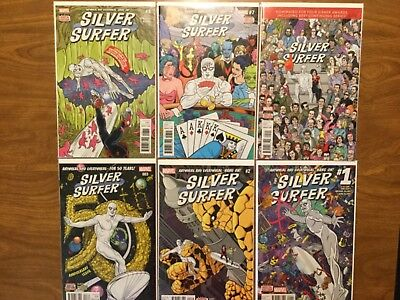 Marvel 2016 Silver Surfer 1-8 Missing books 6 4 Not Complete 50 Years Issue