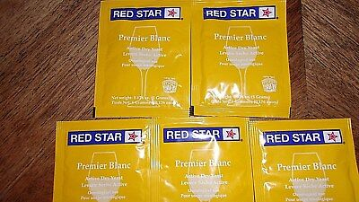 Red Star Premier Blanc (Formerly Pasteur Champagne) Yeast, Free Shipping 5 packs