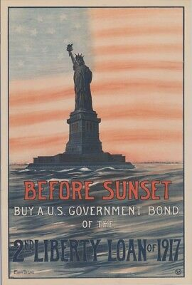 Original WW1 2nd Liberty Bond Poster