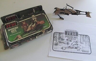 Star Wars Kenner Speeder Bike Vintage Vehicle 1983 wth Box - Return of the Jedi