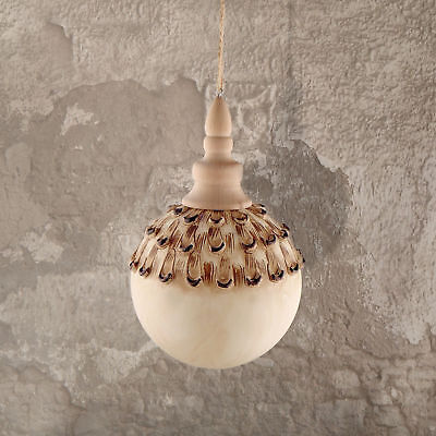 Decoro Pallina Albero di Natale Vintage Shabby Chic Pinecone Collection