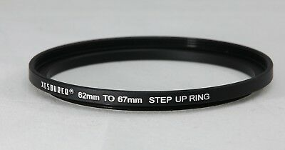 62-67mm Step up Ring - Black aluminium **UK Seller**