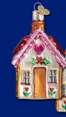 """""""Sweetheart Cottage"""" (Pink) (20066) Old World Christmas Glass Ornament w/ OWC Bx"""