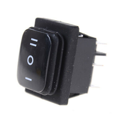 12V Black Waterproof 6Pin DPDT Self Locking Rectangle Switch RAZY