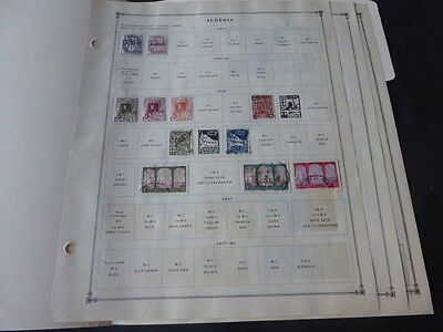 Algeria Pre 1940 Mint/Used Stamp Collection on Scott Int Album Pages