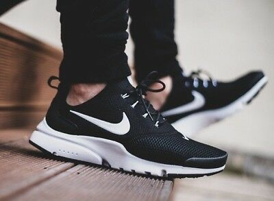 new product 224a5 d9879 Nike Presto Fly 908019-002 Black White Mens Sportswear Running Shoes NEW!