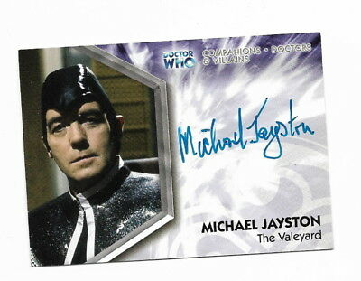 2006  Doctor Who Trilogy Autograph Card  DWT-A12  Michael Jayston