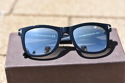 56f4c9c289a29 Tom Ford Leo Sunglasses Black TF9336 Pre-owned Reflective Mirror Shiny Lens