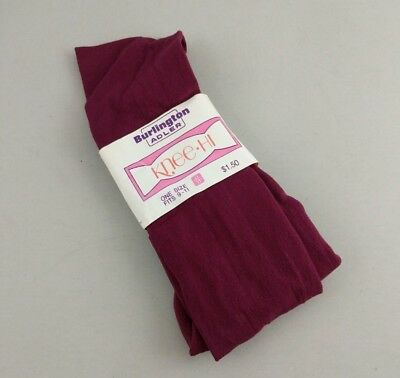 Vintage Burlington Adler Knee Hi Socks Purple Size 9-11 Thin Nylon NWT NOS
