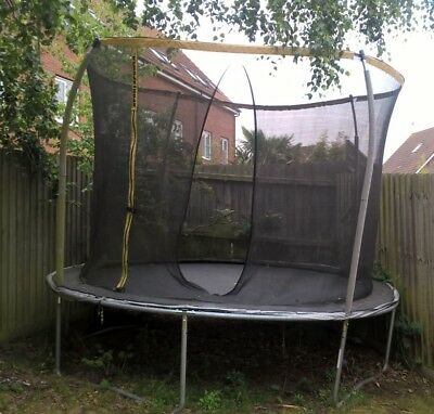 10ft Ultra Power Sports Trampoline With Enclosure 5600 Picclick Uk