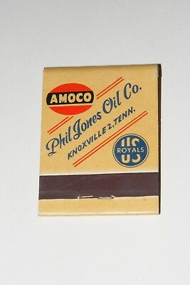 Vintage 1940/50s AMOCO Phil Jones Oil Co. Knoxville Tenn Matchbook US Royal Tire