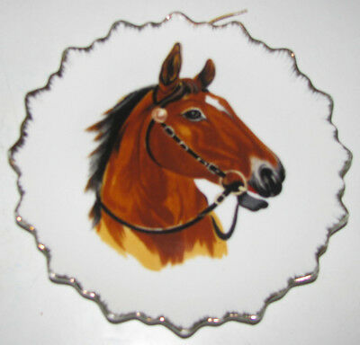 Vintage Decorative Hanging Horse Plate Exclusively For Dan Brechner And Co.