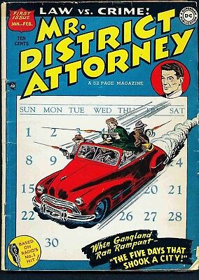 Us Comics Mr District Attorney #1-67 Golden Age Crime Comics Collection On Dvd