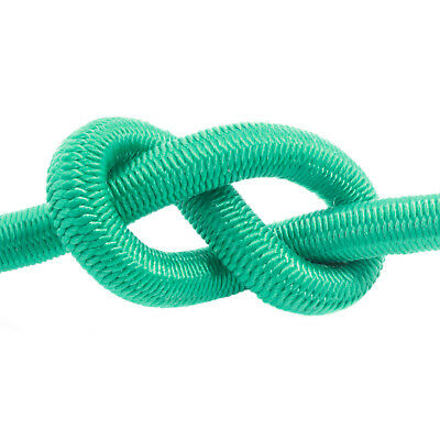 Green Elastic Bungee Rope Shock Cord Tie Down Various Thickness / Length BUNGEE