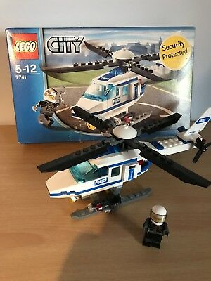 Lego City Police Helicopter 7741 Complete And With Instructions