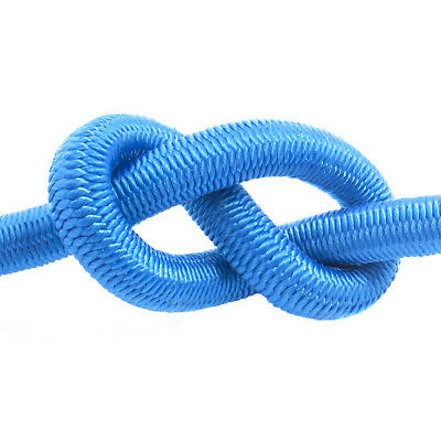 Blue Elastic Bungee Rope Shock Cord Tie Down Various Thickness / Length BUNGEE