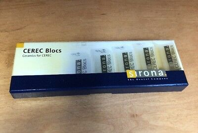 SIRONA CEREC BLOCS Ceramics SHADE GUIDE New in box SUPERDENTALUSA