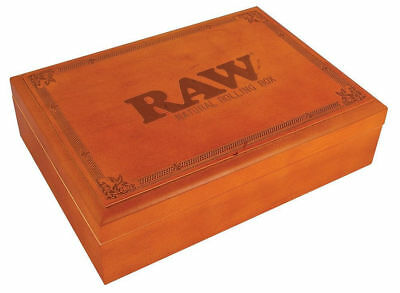 Large Raw Rolling Stash Box w Tray Stores Grinder Tobacco Papers Lighter Tips...