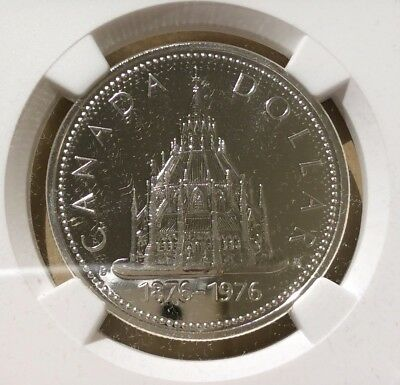 1976 Canada One Dollar NGC SP 67 - Library of Parliament - Silver