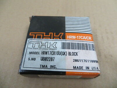 THK Linear Guide Rail Bearing Block HRW17CR1UU ( GK ) New