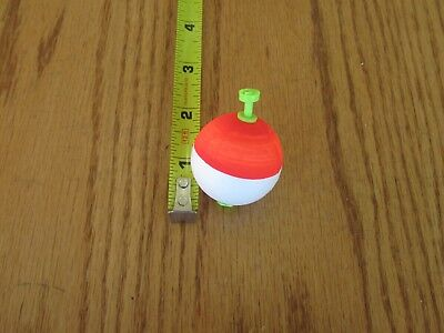 """12 1.50/"""" FISHING BOBBERS Cigar Floats Flo-Chartreuse Weighted Foam Snap on Float"""