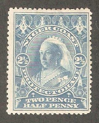 Niger Coast 1894,Queen Victoria,2 1/2p,Sc 46,VF Mint Hinged (N-2)