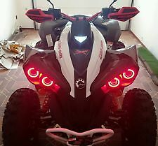 Can Am Renegade Halos rings lights set 4 - RED