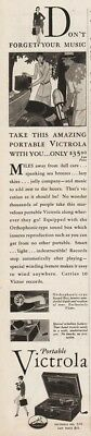 1929 Victor Victrola VV 2-55 portable Phonograph Don't Forget Your Music Ad