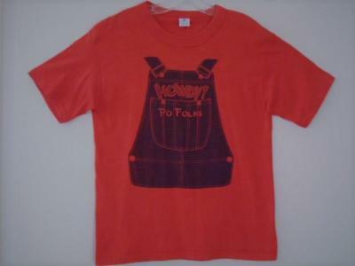 VINTAGE 1970s HOWDY PO FOLKS HOMESTYLE COOKING FAMILY RESTAURANT PROMO SHIRT LGE