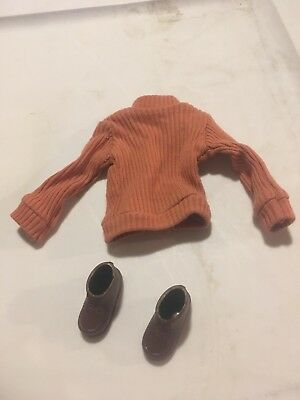 Vintage 1973 SUNSHINE FAMILY Dad Steve MATTEL DOLL shoes and sweaters